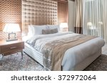 Stock photo hotel room with modern interior 372972064