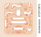 set of banners and ribbons.... | Shutterstock .eps vector #372972871