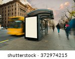 blank outdoor bus advertising... | Shutterstock . vector #372974215