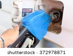 gas or fuel pump at the station ... | Shutterstock . vector #372978871