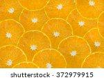 background of sliced fresh... | Shutterstock . vector #372979915