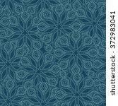 paisley seamless background | Shutterstock .eps vector #372983041
