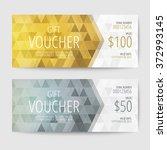 gift voucher templates | Shutterstock .eps vector #372993145