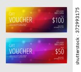 gift voucher templates   Shutterstock .eps vector #372993175