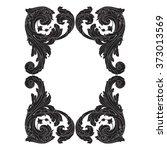 vintage baroque frame scroll...   Shutterstock .eps vector #373013569