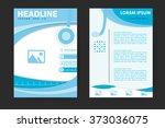 abstract vector modern flyers... | Shutterstock .eps vector #373036075