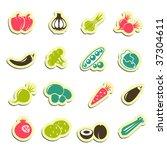 vegetables icons | Shutterstock .eps vector #37304611