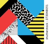 seamless geometric pattern in... | Shutterstock .eps vector #373048051