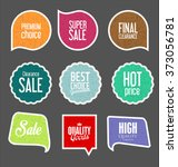modern sale stickers collection | Shutterstock .eps vector #373056781