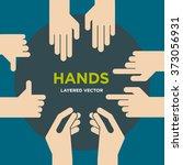 vector hands signs | Shutterstock .eps vector #373056931