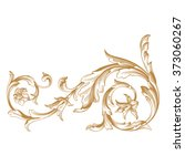 premium gold vintage baroque... | Shutterstock .eps vector #373060267
