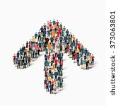 a large group of people in the... | Shutterstock .eps vector #373063801