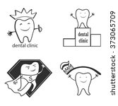 dental symbol collection. clean ... | Shutterstock .eps vector #373065709