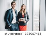 Group Of Business People  A Ma...
