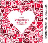 vector card of valentine day.... | Shutterstock .eps vector #373068235