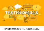 thin line flat design banner... | Shutterstock .eps vector #373068607