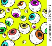 abstract eye seamless pattern.... | Shutterstock .eps vector #373078441