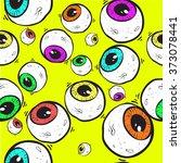abstract eye seamless pattern.... | Shutterstock .eps vector #373078441
