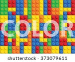 color   seamless vector pattern ... | Shutterstock .eps vector #373079611