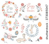 beautiful collection of easter... | Shutterstock .eps vector #373085047