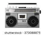 silver retro ghetto blaster or... | Shutterstock . vector #373088875