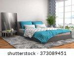bedroom interior. 3d... | Shutterstock . vector #373089451