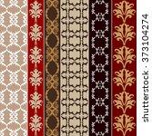 Set Of Baroque Seamless Silk...