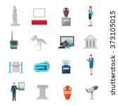 museum icon flat | Shutterstock . vector #373105015