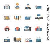 computer repair icons set | Shutterstock . vector #373105825