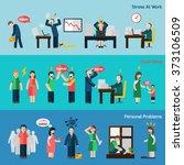 stress depression flat... | Shutterstock . vector #373106509