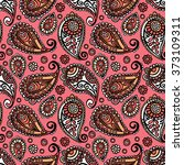 paisley. paisley pattern.... | Shutterstock .eps vector #373109311