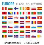 european flags   vector... | Shutterstock .eps vector #373113325
