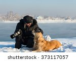 Man And Dog Retriever Golden I...
