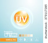 protection uv and whitening... | Shutterstock .eps vector #373117285