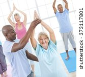 exercise balance senior adult... | Shutterstock . vector #373117801