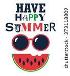 have happy summer poster | Shutterstock .eps vector #373118809