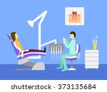 vector dentist office. dental... | Shutterstock .eps vector #373135684