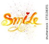 vector calligraphy . smile... | Shutterstock .eps vector #373138351
