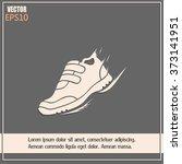 running shoe icon | Shutterstock .eps vector #373141951