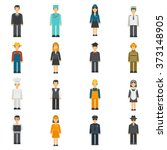 profession flat avatars set | Shutterstock . vector #373148905