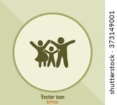 happy family icon in simple... | Shutterstock .eps vector #373149001