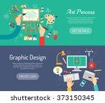 creative process banners | Shutterstock . vector #373150345