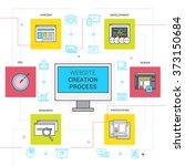 website creation process icons ... | Shutterstock . vector #373150684