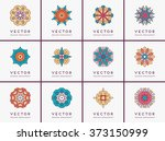 mandala. vintage decorative... | Shutterstock .eps vector #373150999