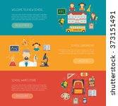 education banner horizontal | Shutterstock . vector #373151491