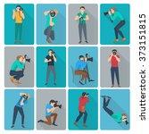 photographer icons set   Shutterstock . vector #373151815