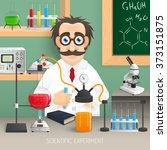scientist in chemistry lab | Shutterstock . vector #373151875