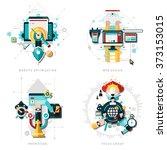 seo development set | Shutterstock . vector #373153015