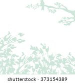 hand drawn leaf and branch...   Shutterstock .eps vector #373154389