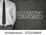 Small photo of Accounting standard text on blackboard